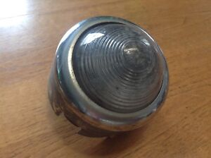 Vintage Guide Backup Lamp Early Auto Reverse Light Guide F 19 Glass Lens Gmc