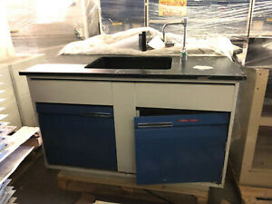 4 1 2 Laboratory Sink Bench With Metal Cabinerty Epoxy Top Basin
