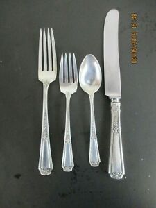 Towle Sterling Silver Flatware Louis Xiv Pattern 4 Pc Service