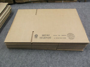 10 15 1 8 X 7 5 8 X 7 Corrugated Shipping Boxes Packing Storage Cartons 275lp