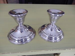 Weighted Berkeley International Sterling Silver Candle Holders