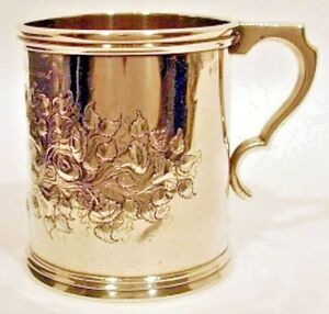 A Large Coin Silver Mug Gale Hayden New York Ny Dated 1849