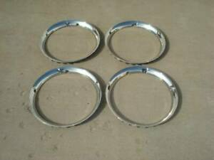 Set Of 4 15 Smooth Trim Rings Beauty Rings Seamless Stainless Steel Early Ford