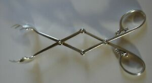Cartier Ice Tongs Sterling Silver Excellent Condition 7 1 2 Long