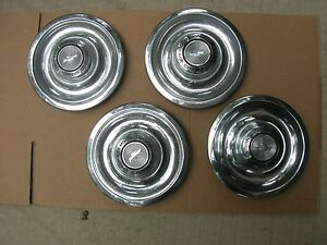 Gm 1967 67 Chevy Nova Ss Corvette Wheelcover Hubcaps Nos Gm Set 427