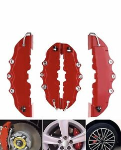 3d 4pcs Style Car Universal Disc Brake Caliper Covers Parts Front
