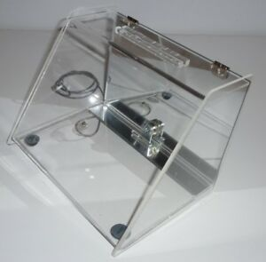 Acrylic Countertop Locking Display Case With Mirror Back 8 75w X 6 5t X 6 25d