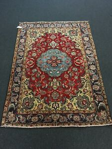 On Sale S Antique Genuine Hand Knotted Persian Rug Traditional Carpet 5x7 25395
