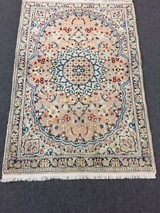 On Sale Fine Great Hand Knotted Persian Naein Naeen Silk Wool Rug Carpet 3 X4 6