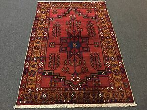 On Sale Foyer Hand Knotted Persian Hamadan Zanjan Geometric Rug Carpet 3 7 X5 4