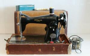 Antique Vintage R H Macy Co Delco Precision Deluxe Sewing Machine W Case