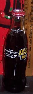 2012 NOTRE DAME FIGHTING IRISH FOOTBALL 125 YEARS 8 OUNCE GLASS COCA COLA BOTTLE