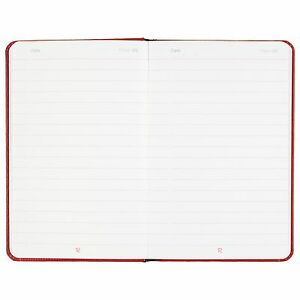 Mead 400065004 Casebound Hardcover Notebook Legal Rule Red Cover 3 1 2 X 5