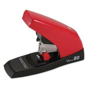 Max Vaimo 80 Compact Flat Clinch Stapler 80 Sheets Capacity Red hd11ufl