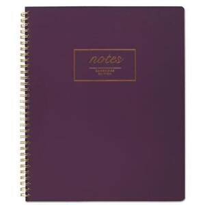 Mead 49567 Fashion Twinwire Business Notebook 11 X 9 Purple 80 Sheets