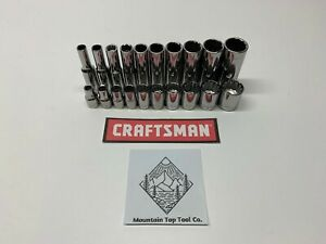 Craftsman 20 Pc 1 4 Drive 12pt Sae Inch Shallow And Deep Socket Set