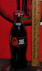 1999 DETROIT TIGERS BASEBALL TIGER STADIUM 1912 - 1999 8 OZ COCA COLA BOTTLE
