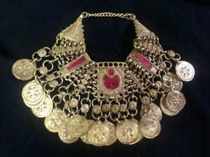 18th Century Rare Antique Islamic Necklace From Saudi Arabia Bedouin Tribe