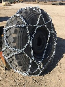 4 Tire Chain Military 365 85r20 Heavy Duty 2 Pair New Crate Fit 40 44 Tall Tires