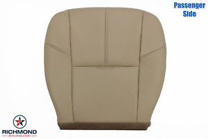 2010 2011 Chevy Avalanche Lt Ls Z71 passenger Side Bottom Leather Seat Cover Tan