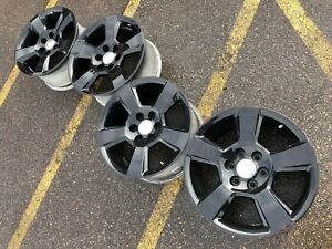 20 Chevrolet Silverado Black Ltz Suburban Tahoe Oem Factory Stock Wheels Rims