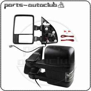 Tow Mirrors Power Heated Signals Puddle Clearance Light For 2003 07 Ford F 250