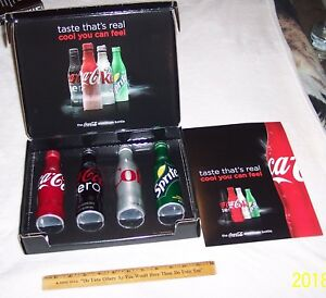 COCA COLA ALUMINUM BOTTLE RELEASE PROMOTIONAL SALES KIT COOL YOU CAN FEEL !