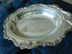 Mid Century Waverley By Wallace Baroque Serving Tray Platter Silver Plated 9540