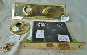 Mortise Lock Turn Latch Marked Sargent 5 1 2 Cast Brass Face Marked 1886 Set