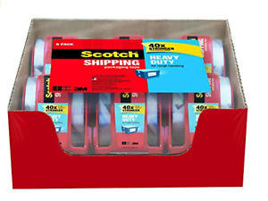 Scotch Heavy Duty Shipping Packaging Tape 1 88 X 800 6 pack 12 pack 3 pack