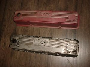 Vintage Chevrolet Chevy 327 350 M T Mickey Thompson Aluminum Valve Covers