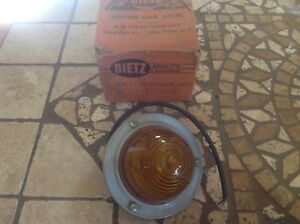 Nib 6v Dietz 61p Amber Glass Vintage Clearance Lamp Travel Trailer Truck Nos