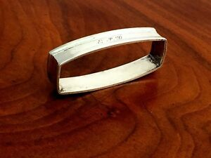 American Sterling Silver Napkin Ring Curved Rectangle Monogram Epd
