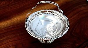 Lapierre Mfg Co Sterling Silver Weighted Handled Basket No Monograms