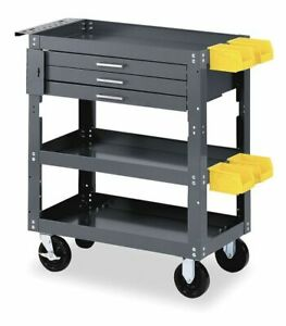 Zoro Select 6ye55 Mobile Workbench Cabinet 16 In L gray