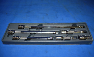 Snap on 206afxw 3 8 Drive 6 Pc With Pakty093 Tray Excellent Condition Used