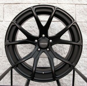 20 Varro Vd01 Staggered Wheels And Tires For Bmw X5 X6 Satin Black Rims