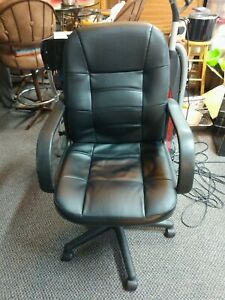 Nice Leather Swivel And Rocking Office Chair Black Nice Used