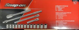 New Snap On 317ammpc 17 Pc 1 2 Drive 6 Point Metric General Service Socket Set