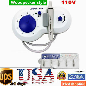 Dental Ultrasonic Scaler Teeth Cleaner Dte D1 5 Tips Woodpecker Brand 110v Usa