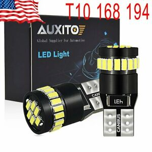 Auxito T10 Led License Plate Light Bulbs Can Bus Bright White 168 2825 194 2pcs
