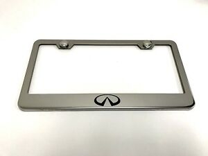 Infinitilogo Laser Style Stainless Steel License Plate Frame W Bolt Caps