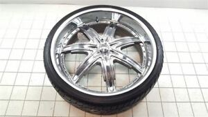 24 Inch 24x9 Devino Chrome Rim Wheel W Tire 4239