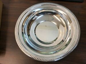 Vtg F B Rogers Silver Co Silver Bowl 10 5 Pristine New In Box Old
