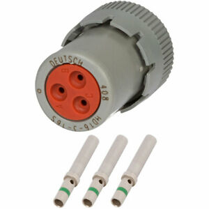Hd16 3 16s Deutsch 3 Way Plug Connector Kit W 14 Awg Solid Contacts