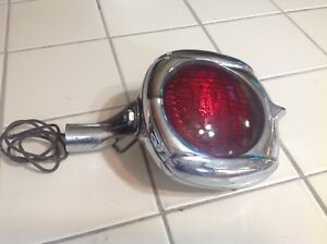 Vintage Auto Light Allstate 24 Art Deco Lamp Mount Bracket 12v Red Sealed Harley