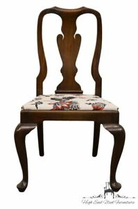 Henkel Harris Solid Mahogany Queen Anne Style Dining Side Chair 110s