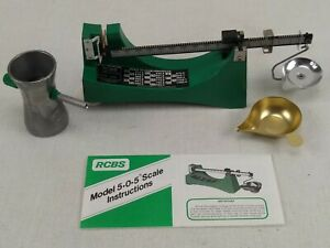 RCBS Ohaus Model 505 Powder Reloading Scale with Instructions & Powder Trickler