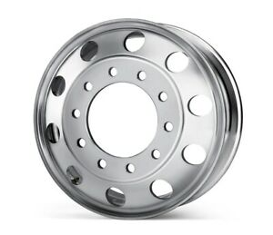 22 5 X 8 25 Aluminum Truck Trailer Alcoa Style Wheel Rim Hub Pilot Forged New