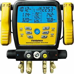 Fieldpiece Sm480v Four Port Wireless Sman Manifold With Micron Gauge